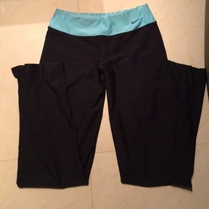 Full length blue band black Nike pants xs